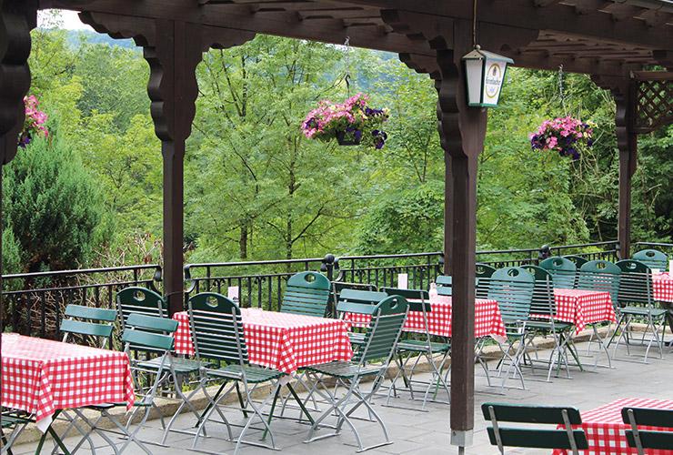 Terrasse des Märchenwald-Cafés